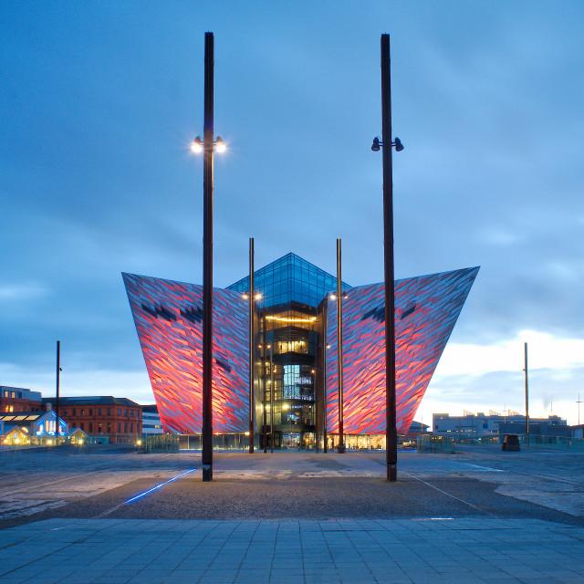 """Titanic Slipway Museum in Belfast"" stock image"
