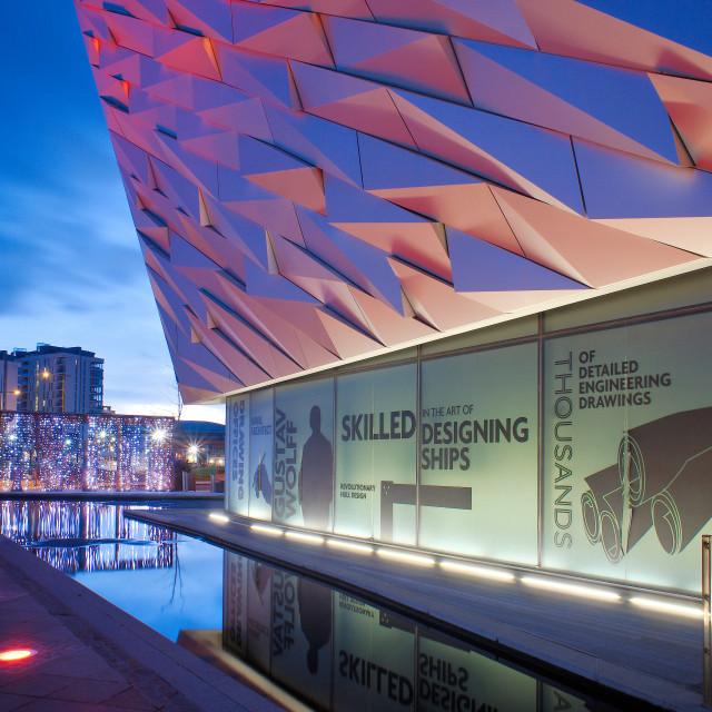"""Titanic Museum in Belfast"" stock image"