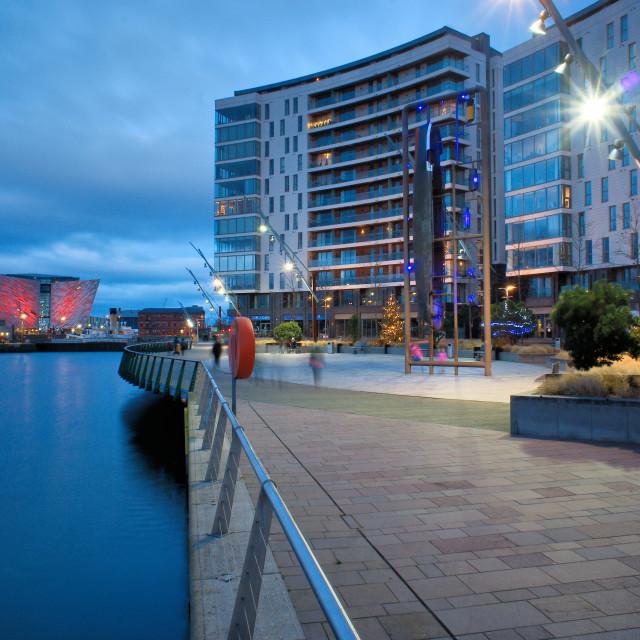"""Arc Apartments and Titanic Museum Belfast"" stock image"