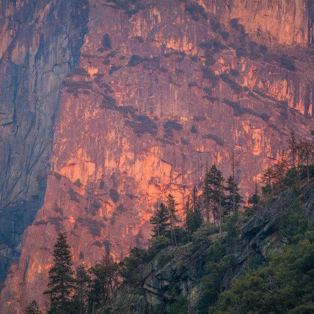 """Yosemite Sunset Bluffs"" stock image"