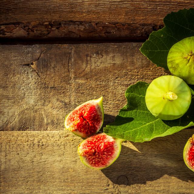 """Fresh greek figs"" stock image"