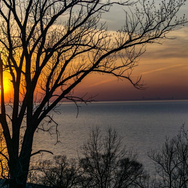 """""""Indiana Dunes Sunset"""" stock image"""