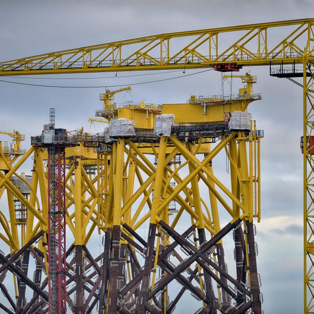 """""""cranes of belfast"""" stock image"""