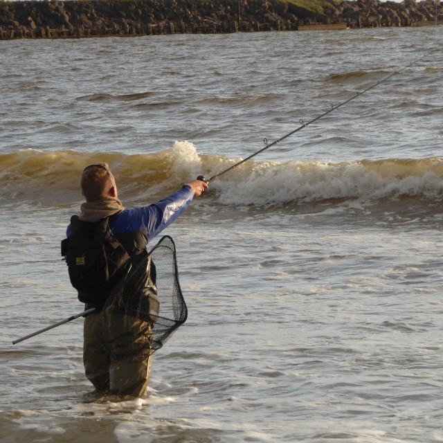 """""""Fishing for Bass II"""" stock image"""