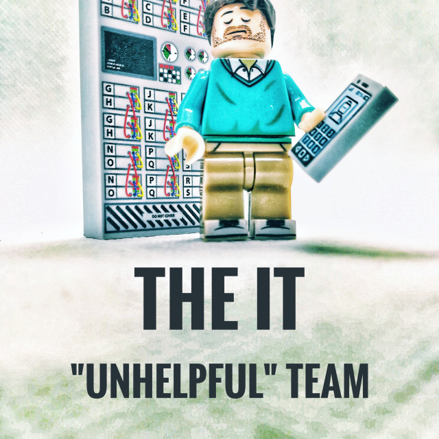 """The IT ""unhelpful"" team"" stock image"