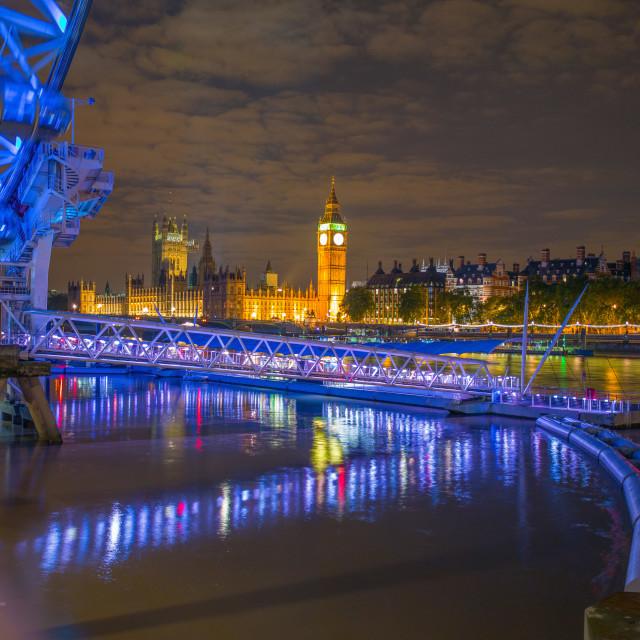 """London Blue Twinkle"" stock image"