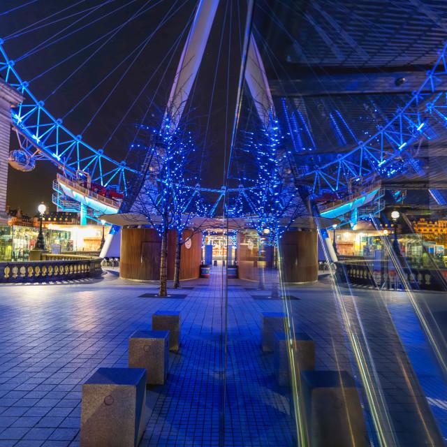 """London Eye Reflection"" stock image"