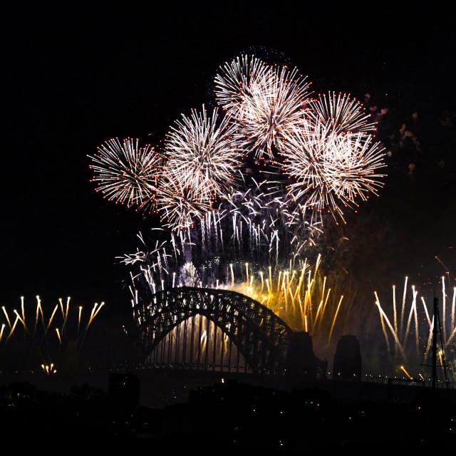 """Sydney 2019 Bridge Works"" stock image"