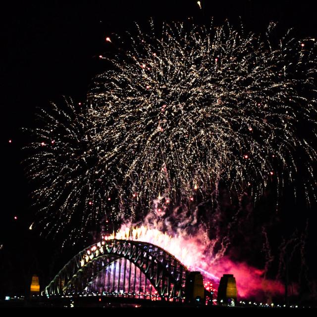 """Sydney 2019 Harbour Sparks"" stock image"