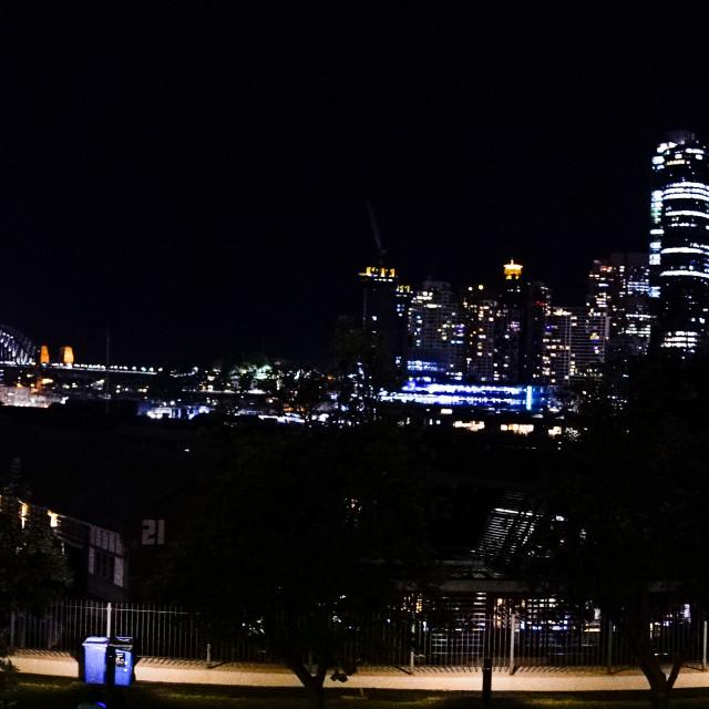 """""""Sydney 2019 Nightscape Panorama"""" stock image"""