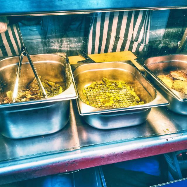 """Pop up Taiwanese street food stall"" stock image"