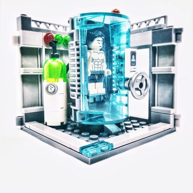 """The Cryogenic chamber"" stock image"