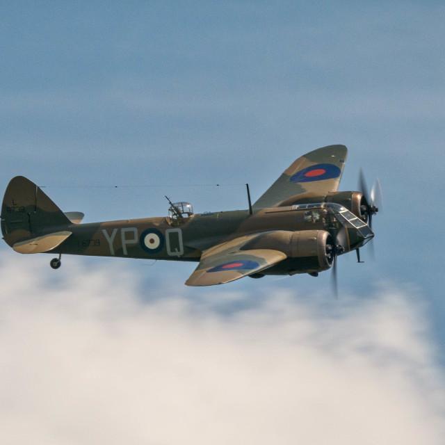 """""""Bristol Blenheim bomber"""" stock image"""