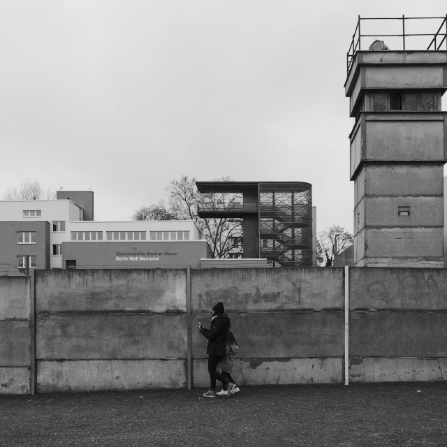 """Berlin Wall Memorial"" stock image"