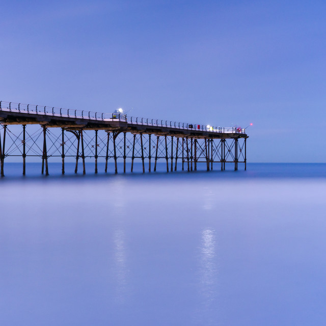 """Saltburn pier blue hour"" stock image"