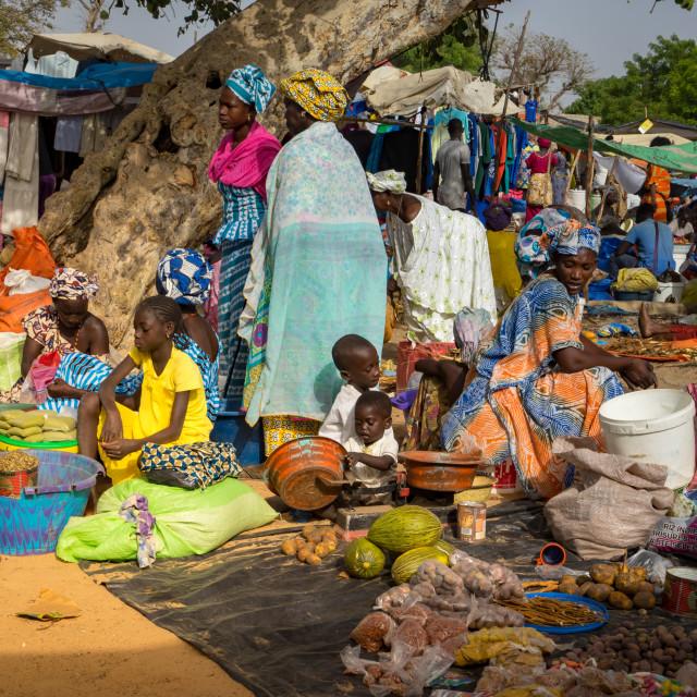 """""""Market day in Senegal"""" stock image"""