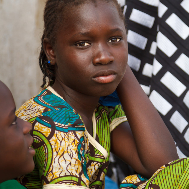 """Beautiful teenage Senegalese girl"" stock image"