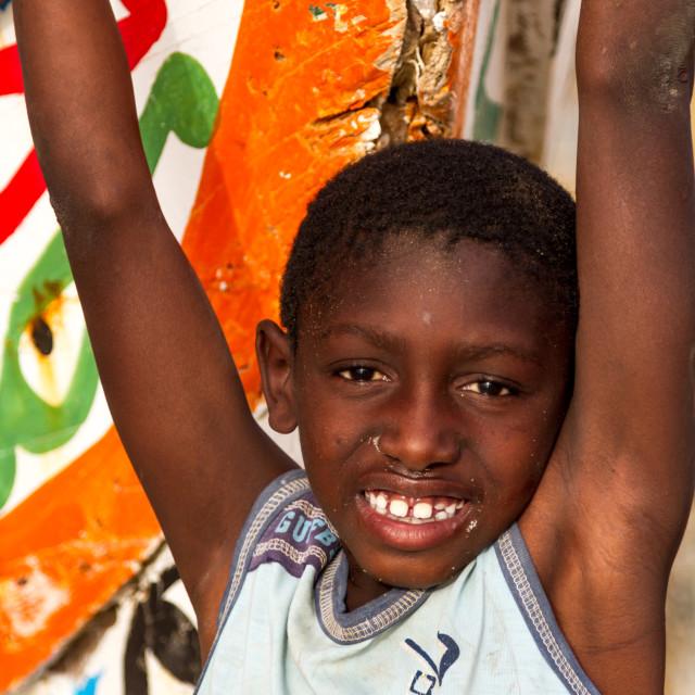 """Portrait of Senegalese boy"" stock image"
