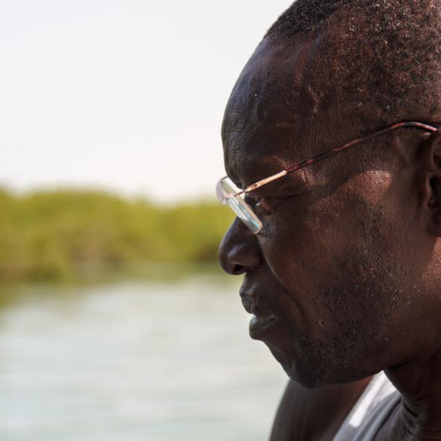 """Portrait riverboat man"" stock image"
