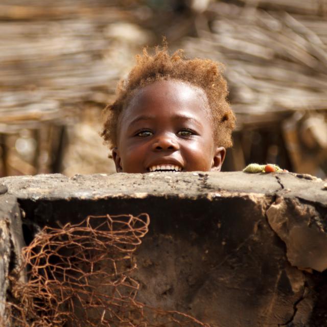 """""""Little girl smile"""" stock image"""