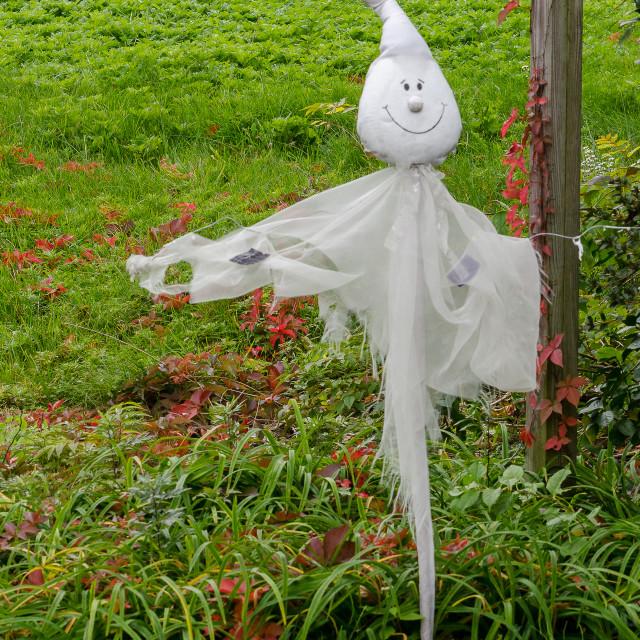 """Garden ghost."" stock image"