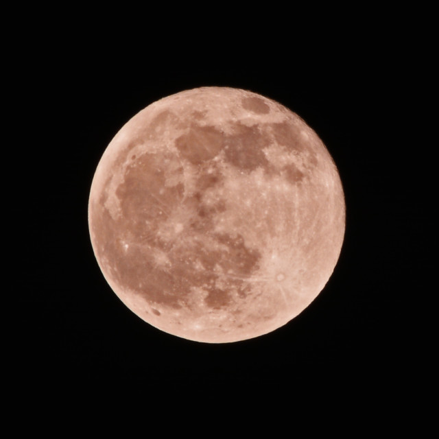 """Super Blood Red Full Moon"" stock image"