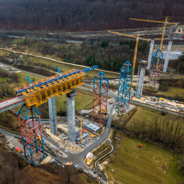 """New railway bridge construction - Stuttgart 21, Aichelberg"" stock image"