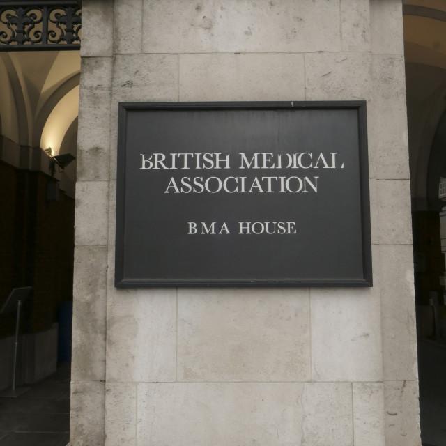 """British Medical Associaton sign"" stock image"