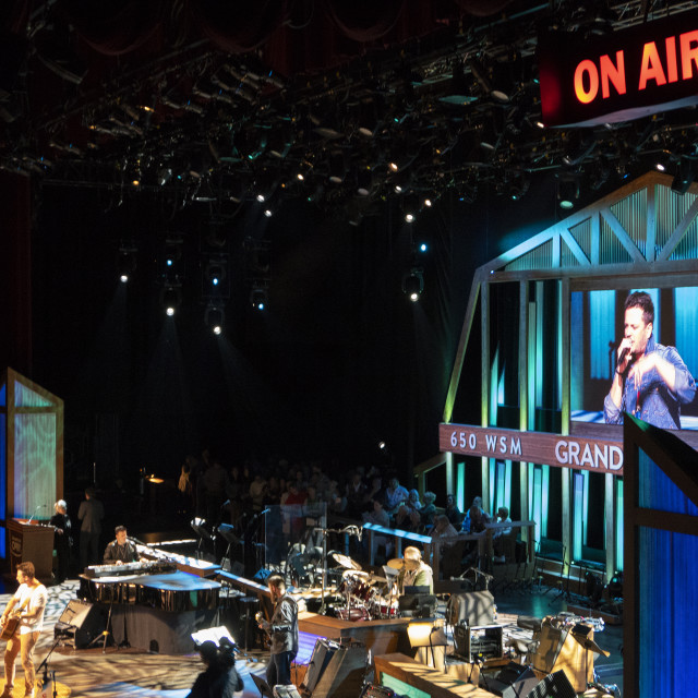 """""""Inside the Grand ole opry in Nashville"""" stock image"""