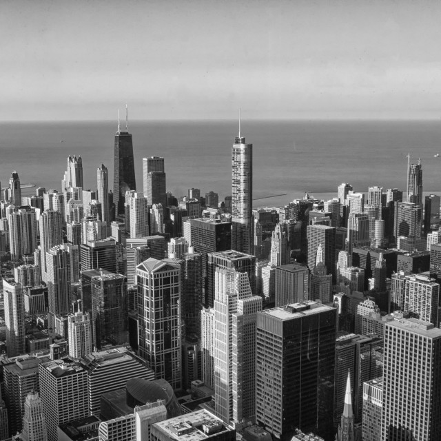 """View on Chicago"" stock image"