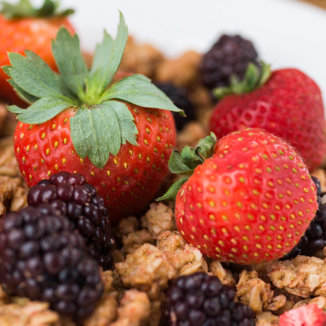 """Granola & Berries"" stock image"