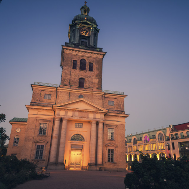 """""""Gothenburg Cathedral at night"""" stock image"""