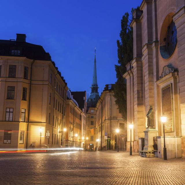 """German Church in Stockholm"" stock image"