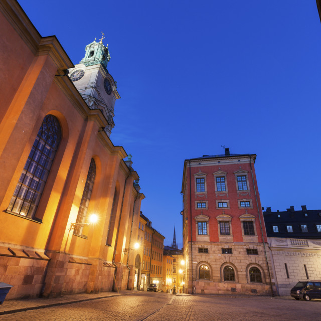 """""""Church of St. Nicholas in Stockholm"""" stock image"""