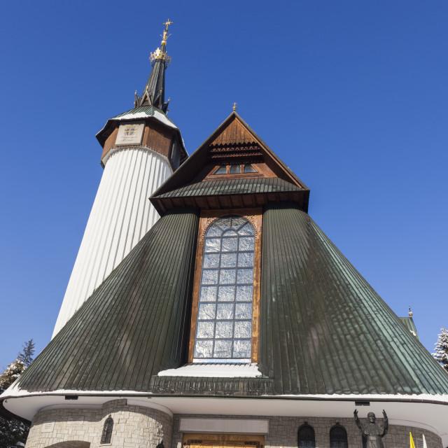 """Sanctuary of Our Lady of Fatima in Zakopane"" stock image"