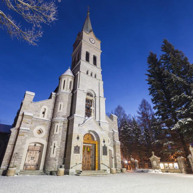 """Church of the Holy Family in Zakopane"" stock image"