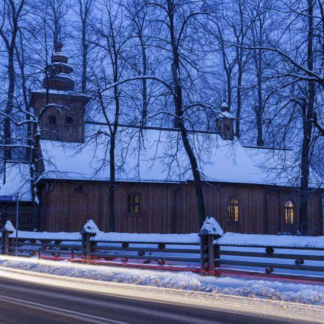 """Church of Our Lady of Czestochowa in Zakopane"" stock image"