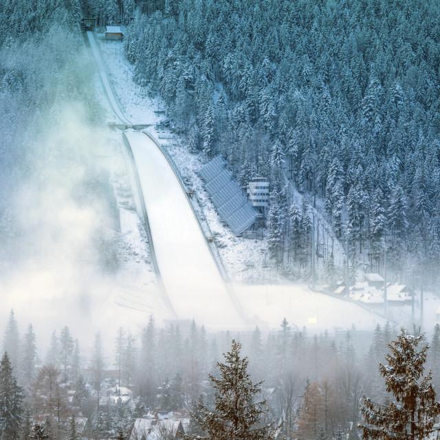 """""""Ski jump in Zakopane"""" stock image"""
