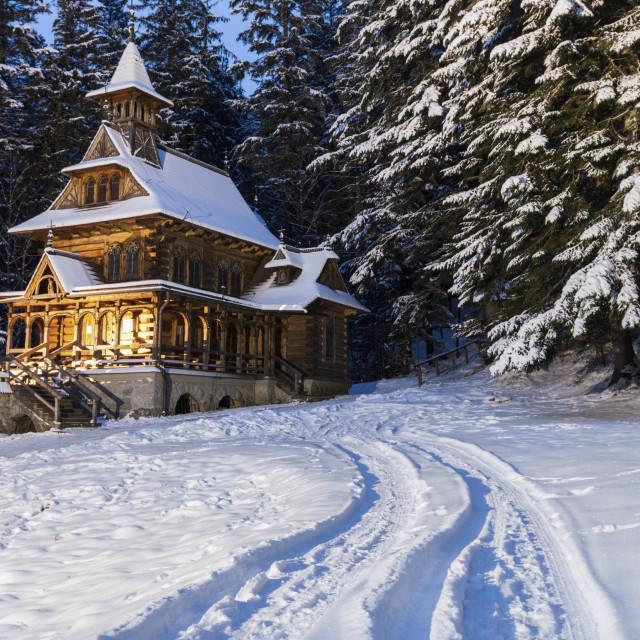 """Chapel of the Sacred Heart of Jesus in Jaszczurowka"" stock image"