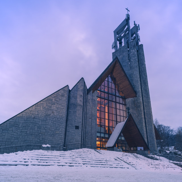 """""""Parish of the Holy Cross in Zakopane"""" stock image"""