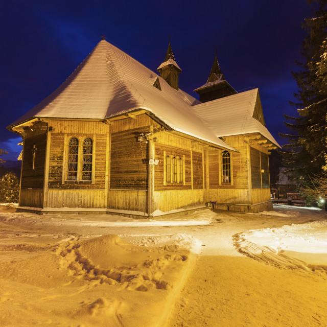 """Parish of St. Casimir in Koscielisko"" stock image"