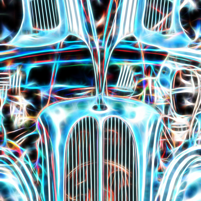 """""""vintage hotrod abstract"""" stock image"""