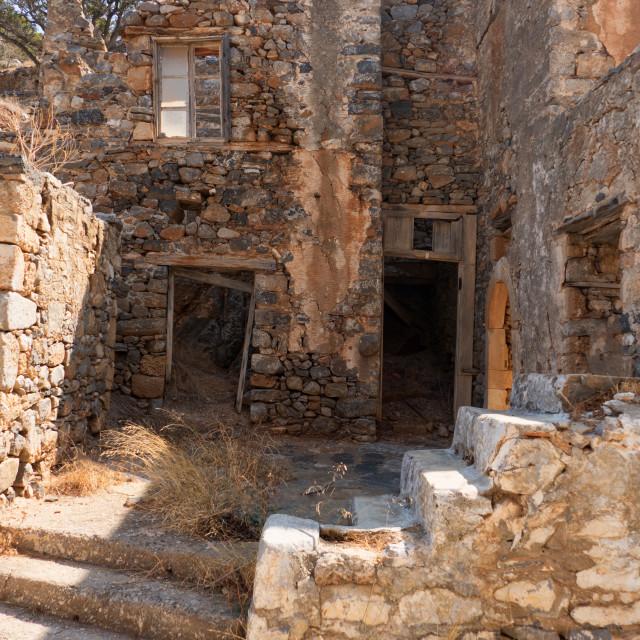 """Ruins on Spinalonga"" stock image"