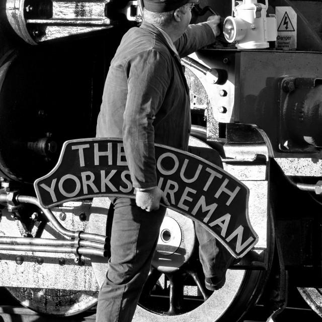 """Train Headboard"" stock image"