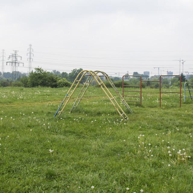 """old vintage style child park"" stock image"