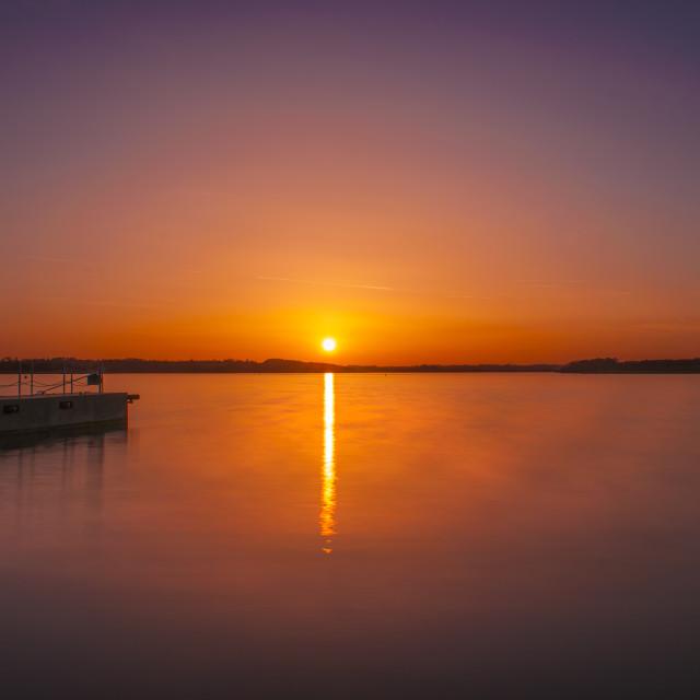 """Sunset Rutland Water"" stock image"