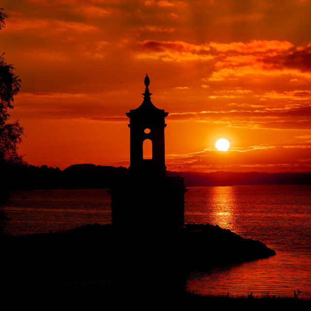 """Rutland Water Sunset"" stock image"