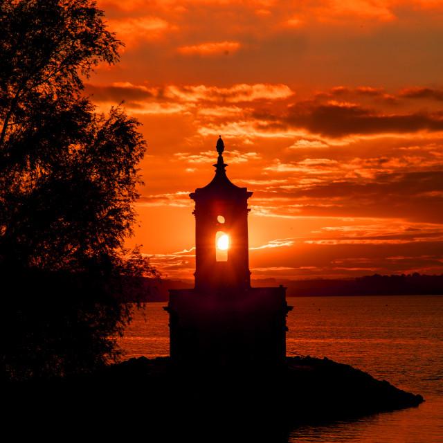 """""""Sunset at Rutland Water"""" stock image"""