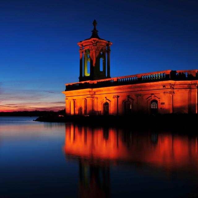 """Night Time at Rutland Water"" stock image"