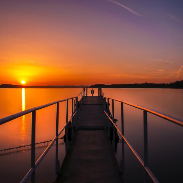 """Rutland Sunset"" stock image"